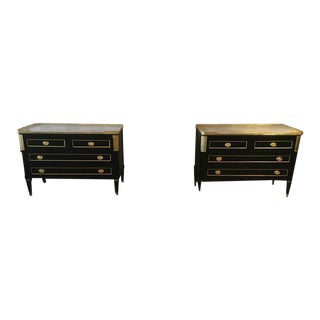 Maison Jansen Style Marble-Top Commodes - A Pair