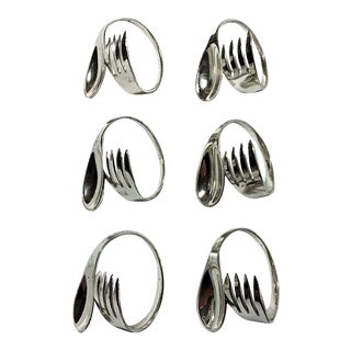 Fork & Spoon Napkin Rings - Set of 6