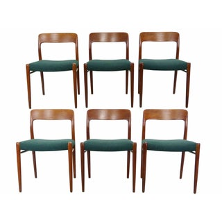 Niels Møller #75 Teak Dining Chairs - Set of 6