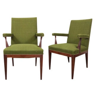 Mid-Century Upholstered Rosewood Chairs- A Pair