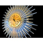 Image of Mid-Century Modern Lucite Starburst Clock