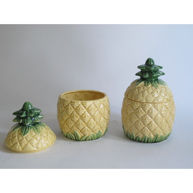 Pineapple Lidded Dishes - Pair - Image 3 of 4