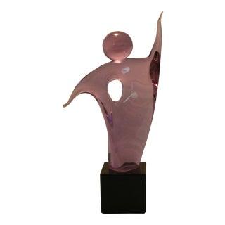 Vintage Italian Art Glass Figural Sculpture by Alfredo Rossi Murano