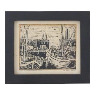 Boats at Fish Town Print