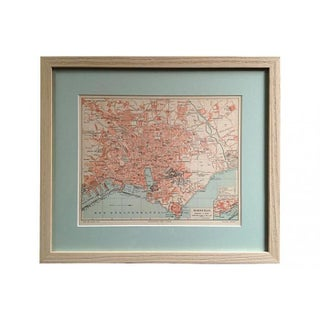 Framed Antique Map of Marseille, France