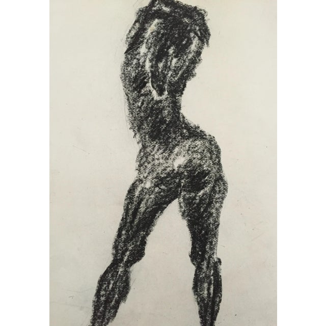 1960's Charcoal Female Silhouette Frank J. Bette - Image 3 of 5