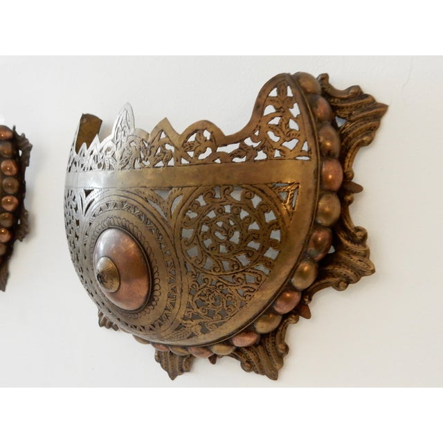 Moroccan Wall Sconces - A Pair - Image 5 of 8
