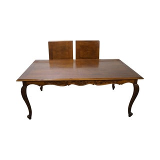Custom French Louis XV Walnut Refractory Dining Table