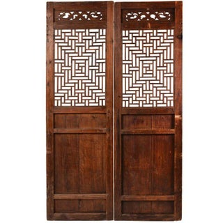 Vintage Chinese Fretwork Panels - A Pair