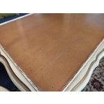 Image of 20th C. Italian Gilt White Lacquered Serving Table & Tray Tables- Set of 5