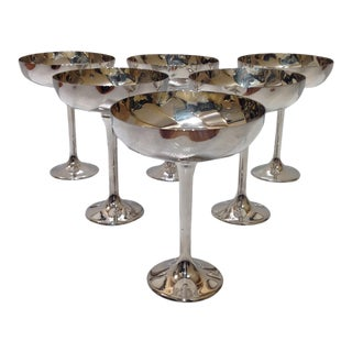Vintage Silver Champagne Coupes - Set of 6