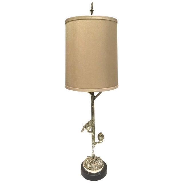 Transitional Table Lamp With Birds - Image 1 of 5