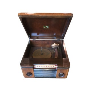 1940's Rca Victor Victrola Radio Record Player