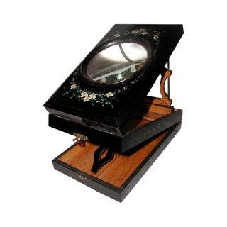 Antique Papier Mache English Graphoscope Magnifier