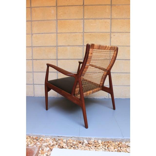 Danish Modern Cane Back Armchair - Image 4 of 8
