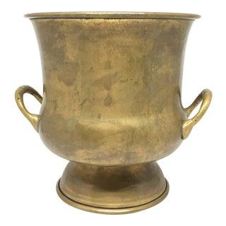 Vintage Brass Patina Vase