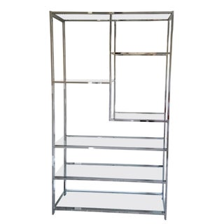 1970s Chrome Etagere Attributed to Milo Baughman