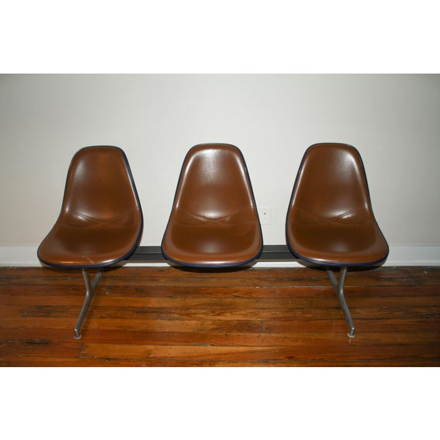 Vintage Eames Tandem Bench Chair - Image 2 of 11