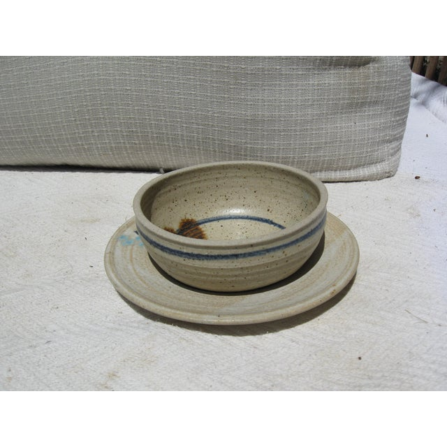 Pottery Bowl & Plate Serving Set - Image 2 of 5