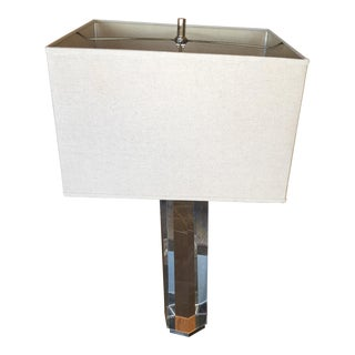 Restoration Hardware Hexagonal Column Crystal Table Lamp