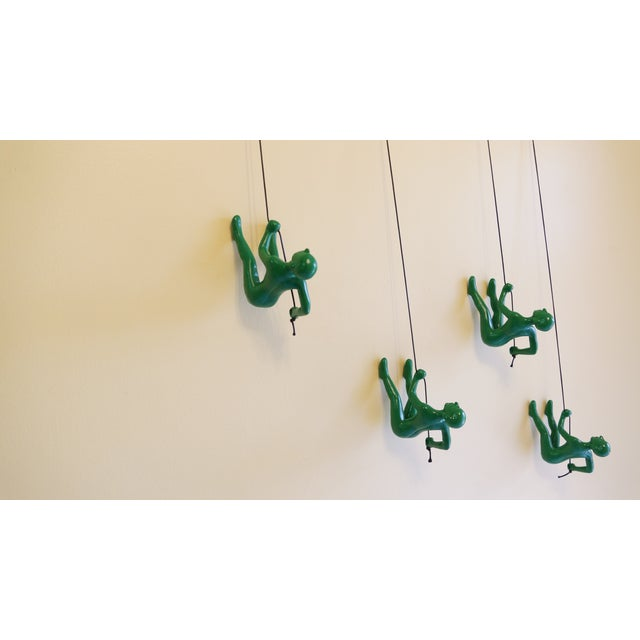 Green Position 2 Climbing Man Wall Art - Set of 4 - Image 4 of 5