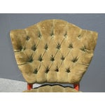 Image of French Provincial Tufted Velvet Chairs - Pair