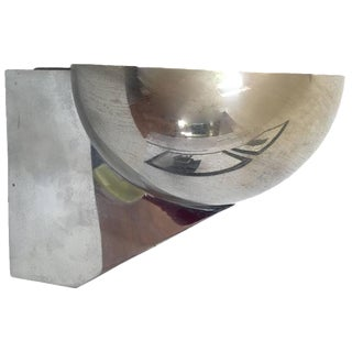 Maison Jansen Style French Chrome Sconce
