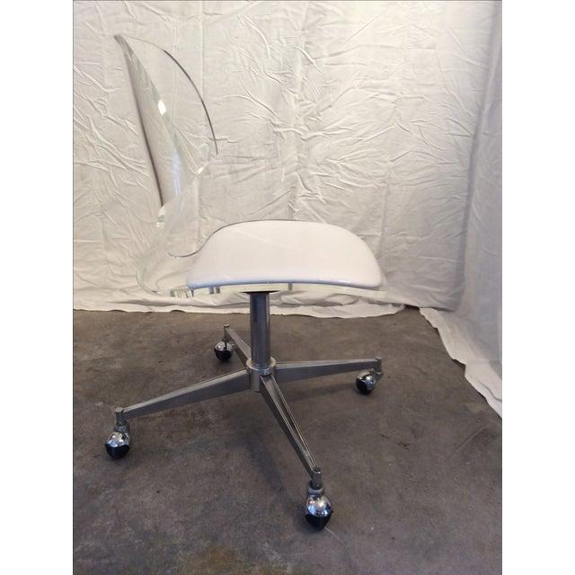 Mid Century Modern Sculptural Lucite Desk Chair - Image 4 of 6