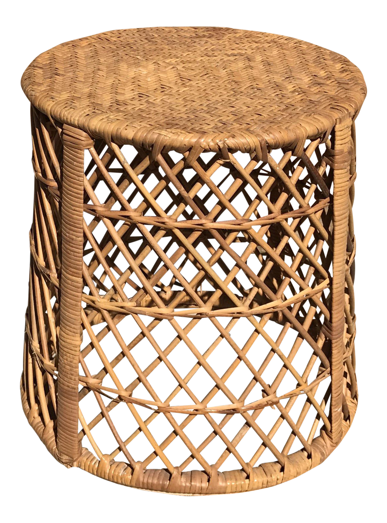 Vintage Rattan U0026 Wicker Side Table