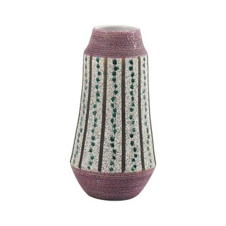 Lavender & Teal Italian Pottery Vase