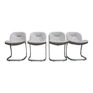 Gastone Rinaldi Italian Chrome Chairs - Set of 4