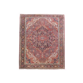 Heriz Carpet with Classic Persian Central Medallion