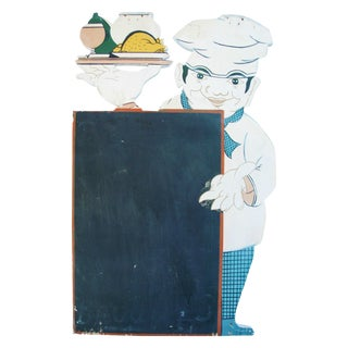 Vintage Hand-Painted French Bistro Menu Board