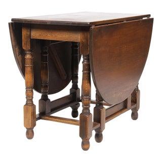1930s Jacobean-Style Gateleg Table