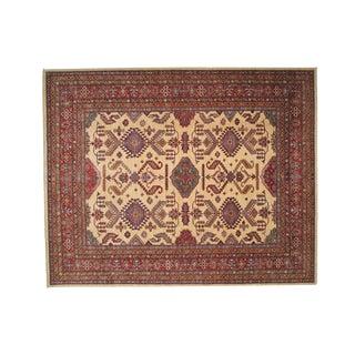 "Hand-Woven Wool Kazak Rug - 8' X 9'10"""