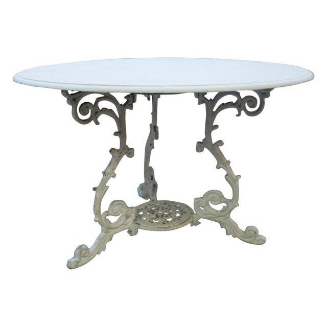 Scrolled Iron Base Table - Image 1 of 3