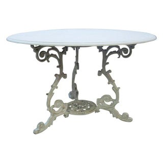 Scrolled Iron Base Table