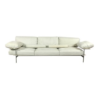 B&B Italia Modern White Leather Sofa