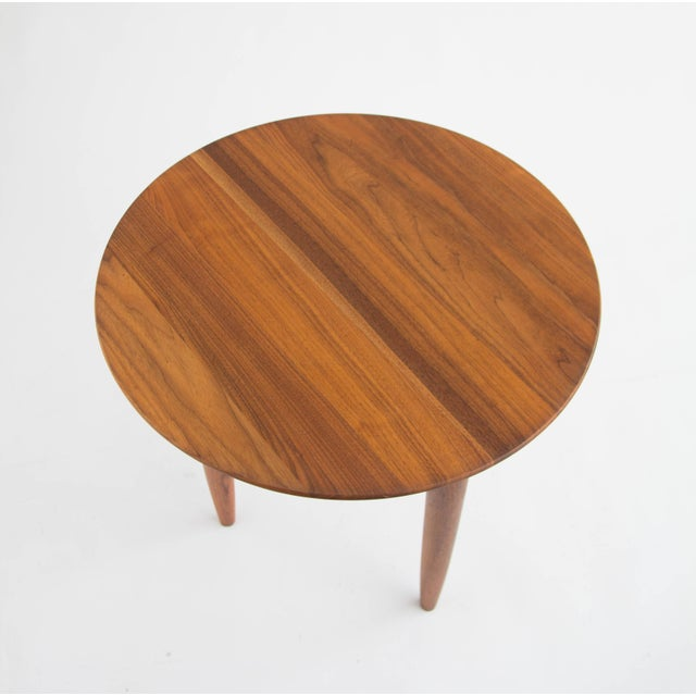 Solid Walnut Round Side Table by Prelude - Image 2 of 6