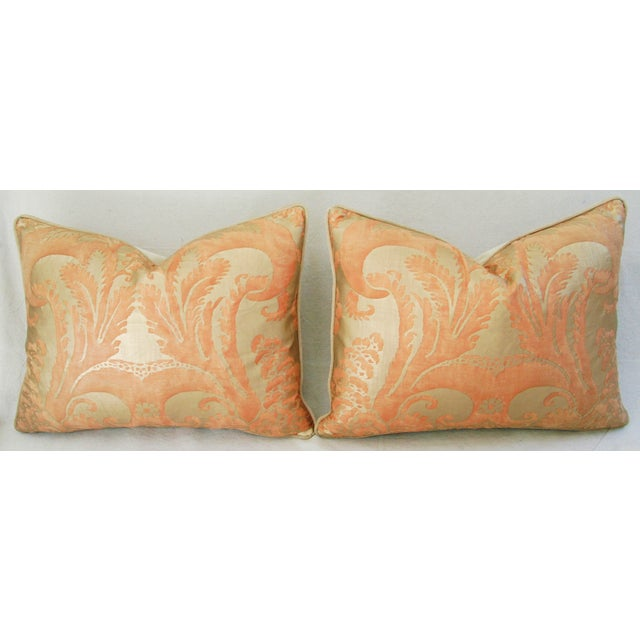Italian Fortuny Glicine Gold Pillows - Pair - Image 7 of 11