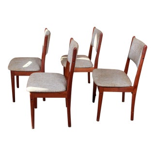 Vintage Teak Danish Modern Dining Chairs - Set of 4