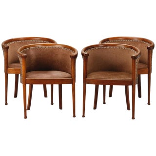 Art Deco Curved Back Chairs- Set of 4