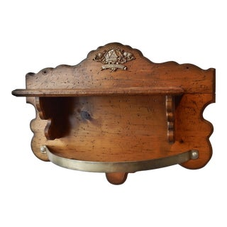 Traditional Wooden Hanging Pot Rack