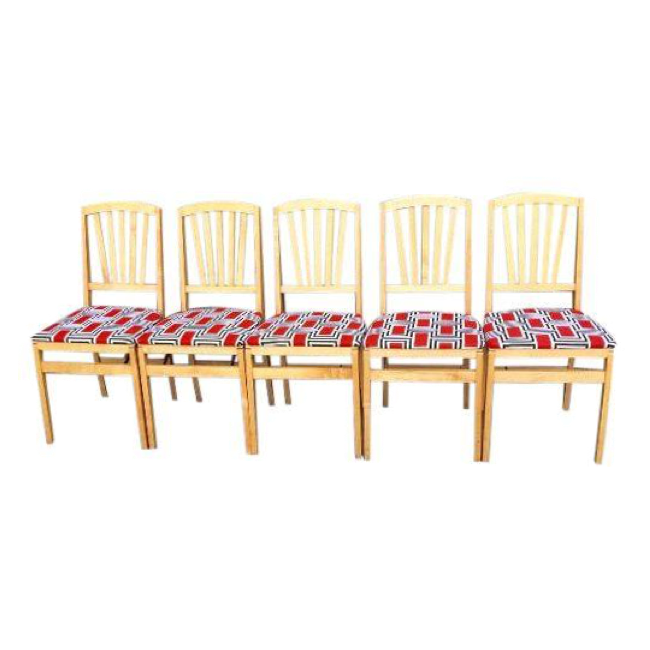 stakmore modern folding dining chairs set of 5 chairish