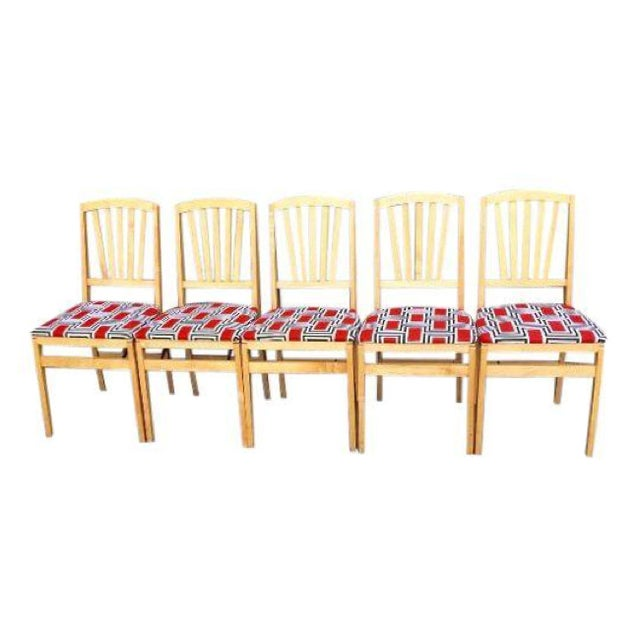 Image of Stakmore Modern Folding Dining Chairs - Set of 5