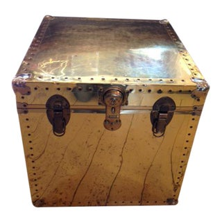 Shelli Vintage Brass Buckle Chest