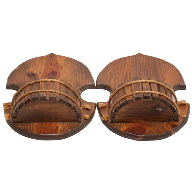 Pair of Japanese Style Wood Brackets, C. 1960s - Image 10 of 10