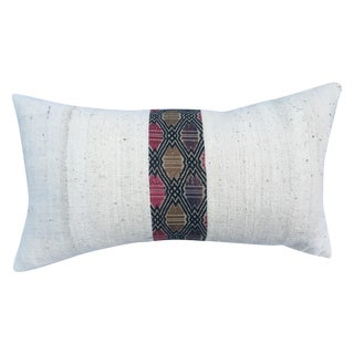 African Mud Cloth Pillow with Tribal Inset
