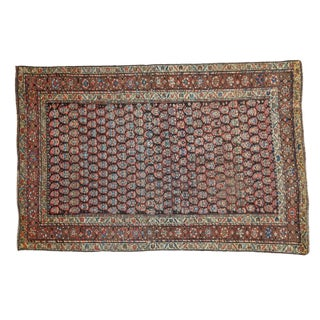 "Antique Boteh Kurdish Rug - 4'2"" X 6'2"""