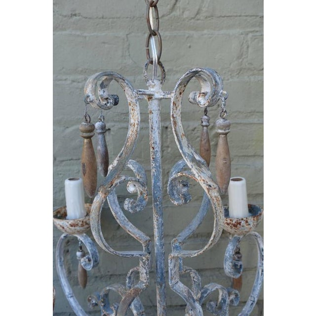 8-Light Painted Italian Chandelier with Drops - Image 7 of 7